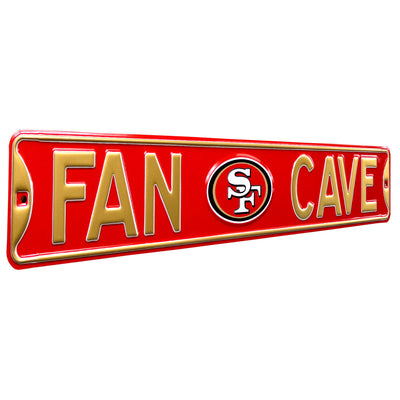 San Francisco 49ers Steel Street Sign with Logo-FAN CAVE