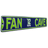 Seattle Seahawks Steel Street Sign with Logo-FAN CAVE