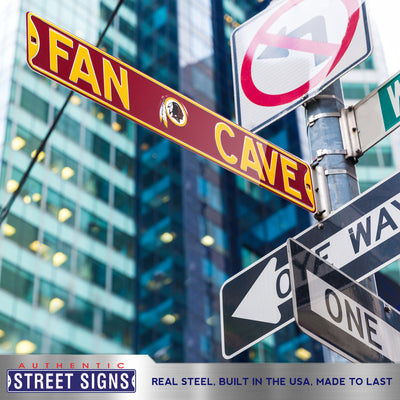 Washington Redskins Steel Street Sign with Logo-FAN CAVE
