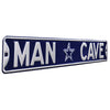 Dallas Cowboys Steel Street Sign with Logo-MAN CAVE on Navy
