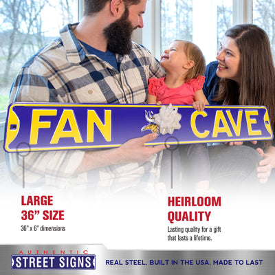 Minnesota Vikings Steel Street Sign with Logo-FAN CAVE