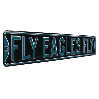 Philadelphia Eagles Steel Street Sign-FLY EAGLES FLY