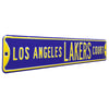 Los Angeles Lakers Steel Street Sign-LOS ANGELES LAKERS CT on Purple