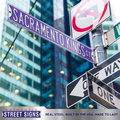 Sacramento Kings Steel Street Sign-SACRAMENTO KINGS CT