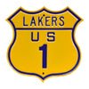 Los Angeles Lakers Steel Route Sign