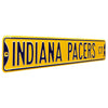 Indiana Pacers Steel Street Sign-INDIANA PACERS CT  on Yellow