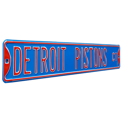 Detroit Pistons Steel Street Sign-DETROIT PISTONS CT