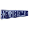 Memphis Grizzlies Steel Street Sign-MEMPHIS GRIZZLIES CT