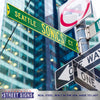 Seattle Sonics Steel Street Sign-SEATTLE SONICS CT