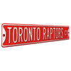Toronto Raptors Steel Street Sign, Throwback Colors-TORONTO RAPTORS CT