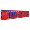 Los Angeles Clippers Steel Street Sign-LA CLIPPER NATION on Red