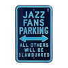 Utah Jazz Steel Parking Sign, Throwback Colors -ALL OTHER FANS SLAM DUNKED
