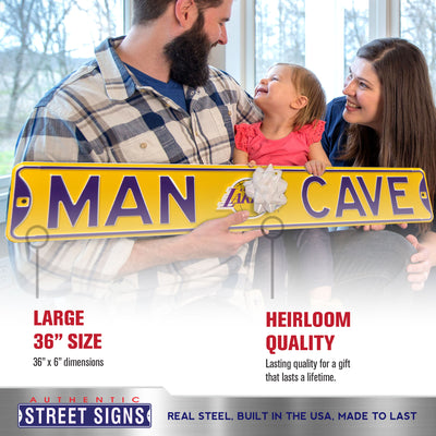 Los Angeles Lakers Steel Street Sign with Logo-MAN CAVE