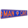 New York Knicks Steel Street Sign with Logo-MAN CAVE