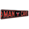 Chicago Bulls Steel Street Sign with Logo-MAN CAVE