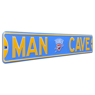 Oklahoma City Thunder Steel Street Sign with Logo-MAN CAVE