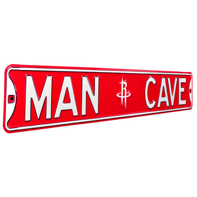 Houston Rockets Steel Street Sign with Logo-MAN CAVE