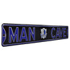 Dallas Mavericks Steel Street Sign with Logo-MAN CAVE