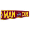 Cleveland Cavaliers Steel Street Sign with Throwback Logo-MAN CAVE