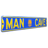 Golden State Warriors Steel Street Sign with Logo-MAN CAVE