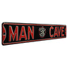 Toronto Raptors Steel Street Sign with Logo-MAN CAVE