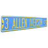Denver Nuggets Steel Street Sign, Throwback Colors-3 ALLEN IVERSON CT