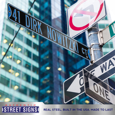 Dallas Mavericks Steel Street Sign-41 DIRK NOWITZKI CT