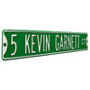 Boston Celtics Steel Street Sign-5 KEVIN GARNETT CT