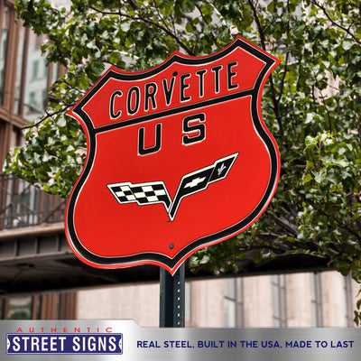 Corvette Steel Route Sign C6