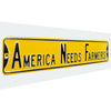 Iowa Hawkeyes-ANF Steel Street Sign-AMERICA NEEDS FARMERS