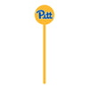 Pittsburgh Panthers Laser Cut Steel Garden Stake-Primary Logo on Yellow