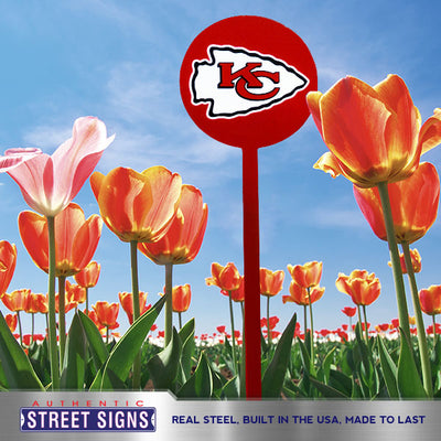 Kansas City Chiefs Laser Cut Steel Garden Stake