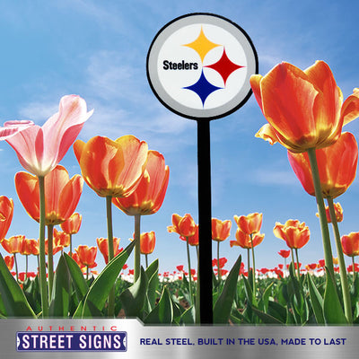 Pittsburgh Steelers Laser Cut Steel Garden Stake