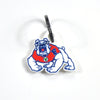 Fresno State Laser Cut Logo Steel Key Ring-Primary Logo