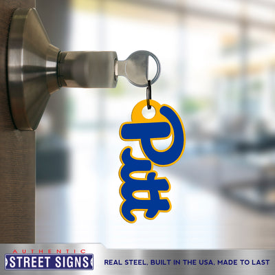 Pittsburgh Panthers Laser Cut Steel Key Ring-Primary Logo