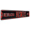 Nebraska Cornhuskers Steel Street Sign-NEBRASKA HUSKERS AVE on Black