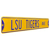 LSU Tigers Steel Street Sign-LSU TIGERS AVENUE on Yellow