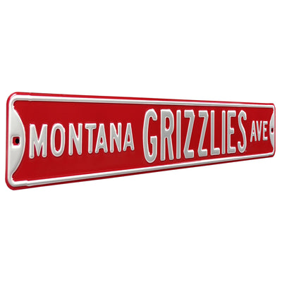 Montana Grizzlies Steel Street Sign-MONTANA GRIZZLIES AVE