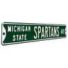 Michigan State Spartans Steel Street Sign-SPARTANS AVE