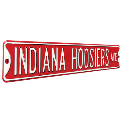 Indiana Hoosiers Steel Street Sign-INDIANA HOOSIERS AVE