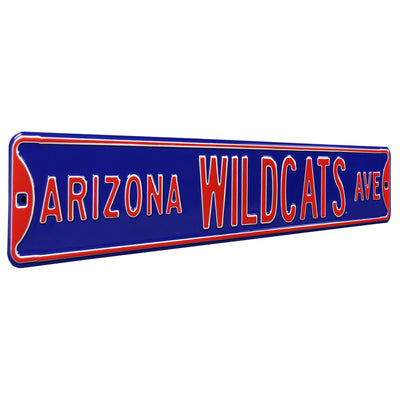 Arizona Wildcats Steel Street Sign-WILDCATS AVE