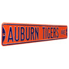 Auburn Tigers Steel Street Sign-AUBURN TIGERS AVE on Orange