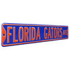 Florida Gators Steel Street Sign-FLORIDA GATORS AVE on Blue