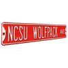North Carolina State Steel Street Sign-NCSU WOLFPACK AVE -old *