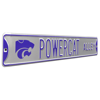 Kansas State Wildcats Steel Street Sign with Logo-POWERCAT ALLEY
