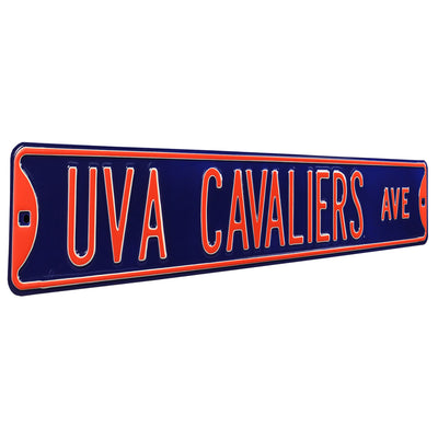 Virginia Cavaliers Steel Street Sign-UVA CAVALIERS AVE