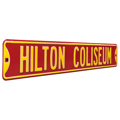 Iowa State Cyclones Steel Street Sign-HILTON COLISEUM