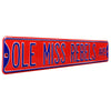 Ole Miss Rebels Steel Street Sign-OLE MISS REBELS AVE