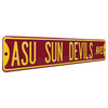 Arizona State Sun Devils Steel Street Sign-SUN DEVILS AVE