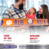 Clemson Tigers Steel Street Sign with Logo-RUB THE ROCK